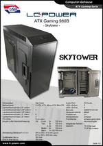 Datenblatt ATX-Gehäuse Gaming 980B Skytower