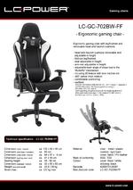 Datasheet gaming chair LC-GC-702BW-FF