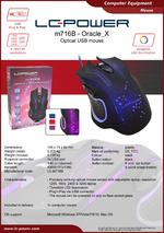 Datasheet PC mouse m716B