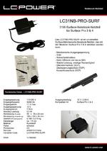 Datenblatt Notebook-Netzteil LC31NB-PRO-SURF