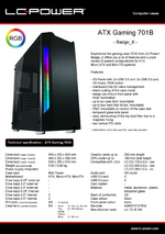 Datasheet ATX case Gaming 701B Badge_X