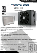 Datasheet ATX power supply unit LC1000 V2.4 Platinum