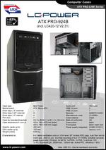 Datasheet ATX case PRO-924B with PSU LC420-12