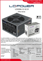 Datasheet ATX power supply unit LC600H-12 V2.31