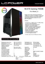 Datenblatt M-ATX-Gehäuse Gaming 705MB Soul Blades_X