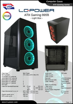 Datasheet ATX case Gaming 995B Light Box