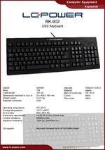 Datasheet keyboard BK-902