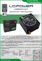 Datenblatt ATX-Netzteil LC6650GP3 V2.3