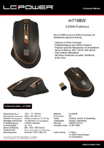 Datenblatt PC-Maus m719BW