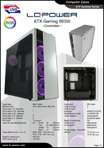 Datasheet ATX case Gaming 993W Covertaker