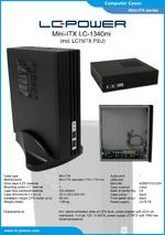Datasheet Mini-ITX case LC-1340mi