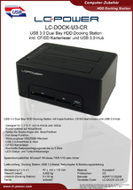 Datenblatt Docking Station LC-DOCK-U3-CR