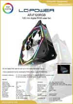 Datasheet 120 mm RGB case fan AR-F120RGB