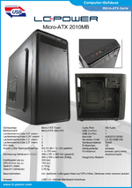 Datenblatt Micro-ATX-Gehäuse 2010MB