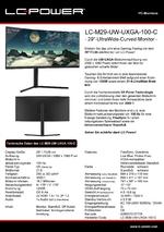 Datenblatt PC-Monitor LC-M29-UW-UXGA-100-C