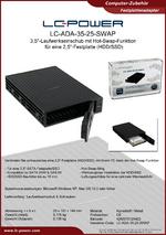 Datenblatt Laufwerkseinschub LC-ADA-35-25-SWAP
