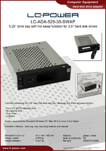 Datasheet drive bay rack LC-ADA-525-35-SWAP