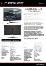 Datenblatt PC-Monitor LC-M27-QHD-144-C