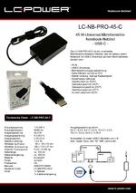 Datenblatt Notebook-Netzteil LC-NB-PRO-45-C