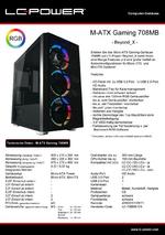 Datenblatt M-ATX-Gehäuse Gaming 708MB Beyond_X
