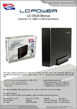 "Datasheet 3,5"" enclosure LC-35U3-Becrux"