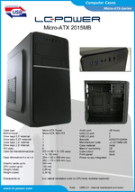 Datasheet Micro-ATX case 2015MB