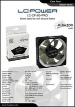 Datasheet 80 mm case fan LC-CF-80-PRO