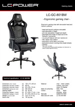 Datasheet gaming chair LC-GC-801BW