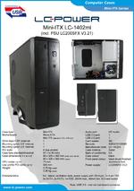 Datasheet Mini-ITX case LC-1402mi