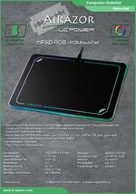 Datenblatt PC-Maus-Pad mPAD-RGB