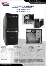 Datenblatt Gehäuse PRO-924B mit Netzteil LC420H-12