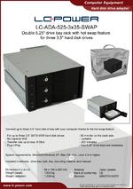 Datasheet drive bay rack LC-ADA-525-3x35-SWAP