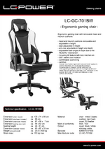 Datasheet gaming chair LC-GC-701BW