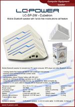 Datasheet speaker LC-SP-2W