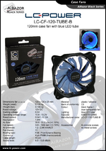 Datasheet 120 mm case fan LC-CF-120-TUBE-B