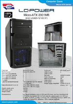 Datasheet Micro-ATX case 2001MB with PSU LC420-12