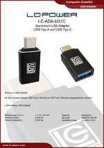 Datenblatt USB-Adapter LC-ADA-U31C