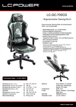Datenblatt Gaming-Stuhl LC-GC-700CG