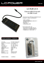 Datasheet USB hub LC-HUB-U3-4