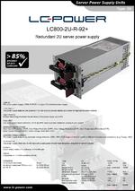 Datasheet server power supply unit LC800-2U-R-92+