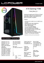 Datasheet ATX case Gaming 710B Gold_Miner_X