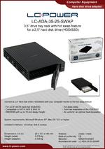 Datasheet drive bay rack LC-ADA-35-25-SWAP