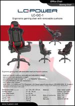 Datasheet gaming chair LC-GC-1