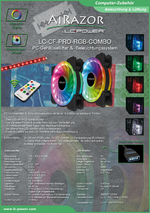 Datenblatt 120mm-RGB-Lüfter-Set LC-CF-PRO-RGB-COMBO