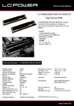 Datasheet RAM LC-RAM-DDR4-3200-HS-16GB-KIT