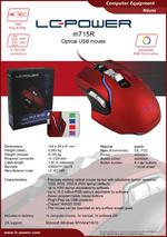 Datasheet PC mouse m715R