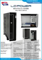 Datenblatt Mini-ITX-Gehäuse LC-1370BII