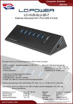Datenblatt USB-Hub LC-HUB-ALU-2B-7