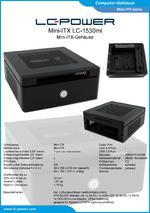 Datenblatt Mini-ITX-Gehäuse LC-1530mi