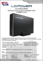Datenblatt RAID-Festplattengehäuse LC-225U3-RAID